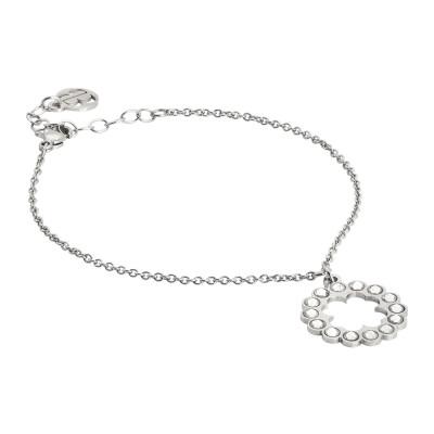 Bracelet with cloverleaf charm and Swarovski