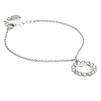 Bracelet with heart charm and Swarovski