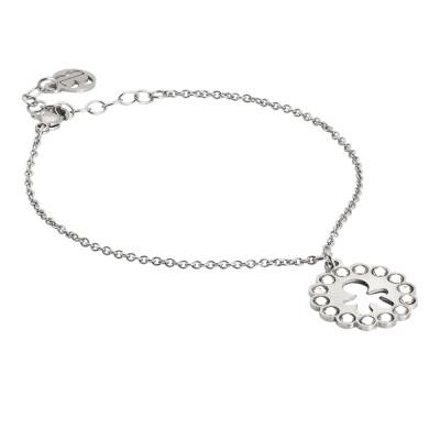 Bracelet with baby charm and Swarovski