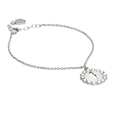 Bracelet with lightning and Swarovski charm