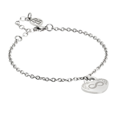 Bracelet with pendant and infinite heart