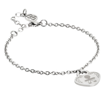 Bracelet with pendant heart and child
