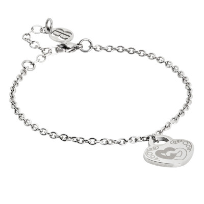 Bracelet with pendant heart and double heart