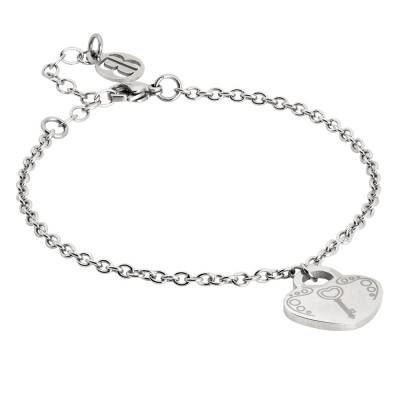 Bracelet with pendant and key heart
