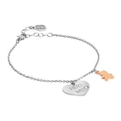 Hug me bracelet with two-tone pendants