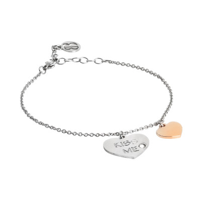 Bracelet me kiss with bicolor pendants