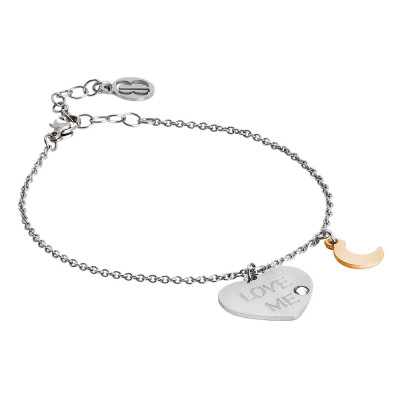 Love me bracelet with bicolor pendants