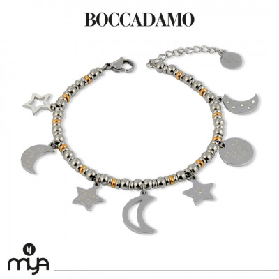 Two-tone ball bracelet with star charms