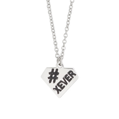 Necklace with diamond charm