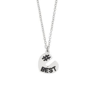 Necklace with open heart charm at the top