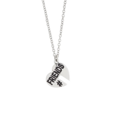 Necklace with open heart charm at the bottom
