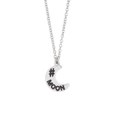 Necklace with crescent charm
