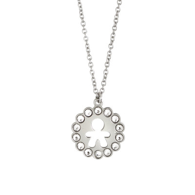 Necklace with baby and Swarovski