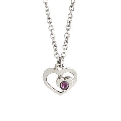 Necklace with heart and Swarovski