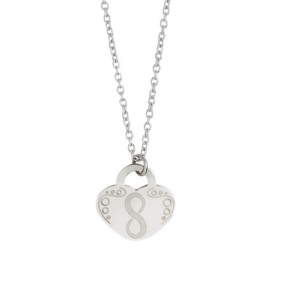 Necklace with heart and symbol of infinity