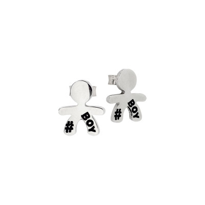 Stud earrings with baby