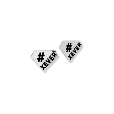 Diamond lobe earrings