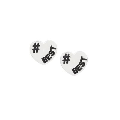 Open heart lobe earrings