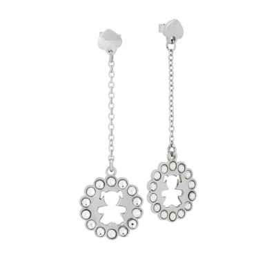 Earrings with baby girl and Swarovski