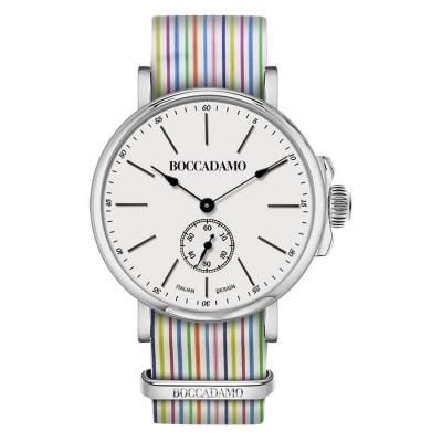 Clock with sartorial strap to narrow rows multicolor