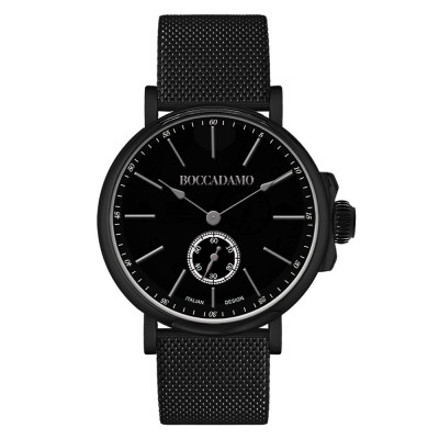 Men's watch with black pvd and second counter