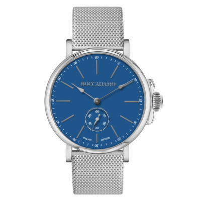 Men's watch with navy blue dial and second counter