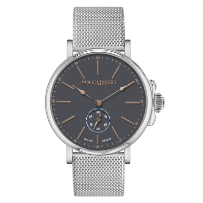 Men's watch with gray dial and second counter