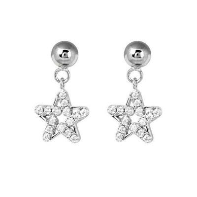 Orecchini con stella e zircone
