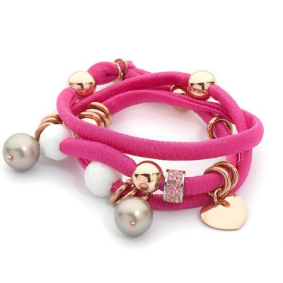 Bracelet threefold i don in lycra fuchsia