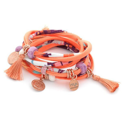 Bracelet in lycra orange by ethnic fantasies