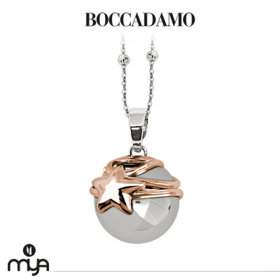 Necklace with sound pendant and cup with rose gold plated star