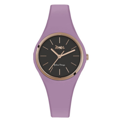 Watch lady in silicone anallergic lavender and pink ring