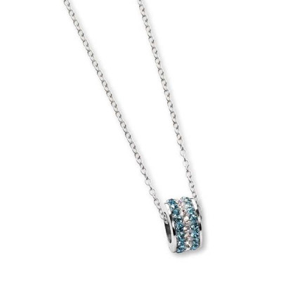 Necklace with passing in celestial strass and boreal