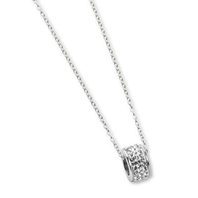 Necklace with passing in rhinestones boreal