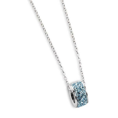 Necklace with passing in celestial strass