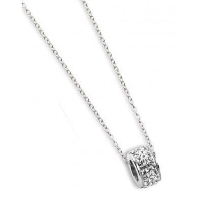Necklace with passing in pavè of boreal strass