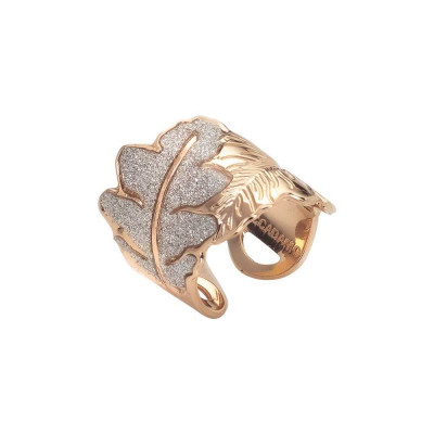 Rose gold plated ring with band decoration