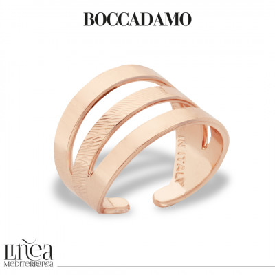 Rose gold plated band ring