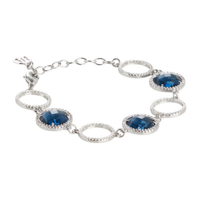Bracelet with crystals Montana and zircons