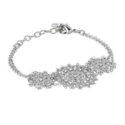 Bracelet with central decoration in bas-relief and Swarovski