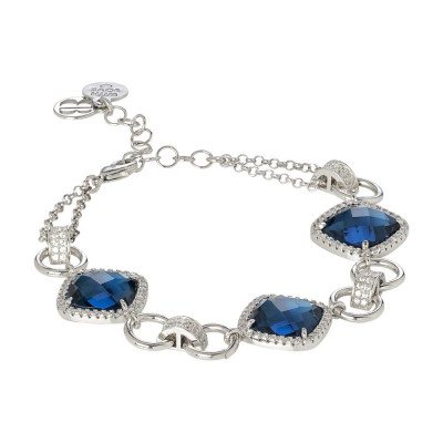 Modular bracelet with crystal blue montana and zircons