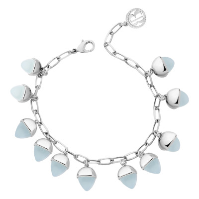 Bracelet with aquamarine pendants