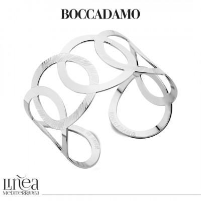 Rhodium-plated bracelet with interlacing