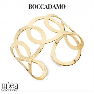 Yellow gold plated bracelet with interlacing