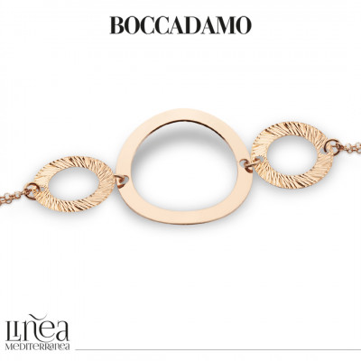 Rose gold plated bracelet with circular elements