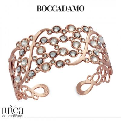 Band bracelet with Swarovski crystal and blue shade