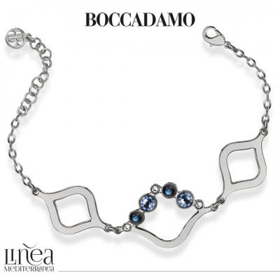 Bracelet with Swarovski crystal, montana and light sapphire