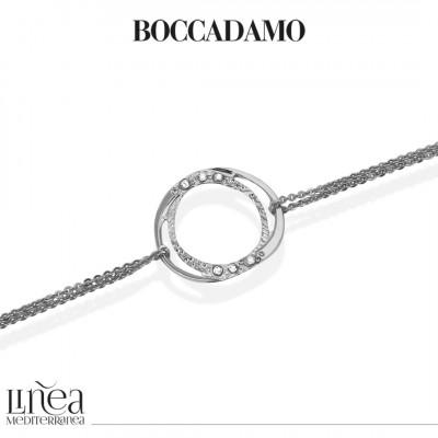 Double strand bracelet with Swarovski decoration