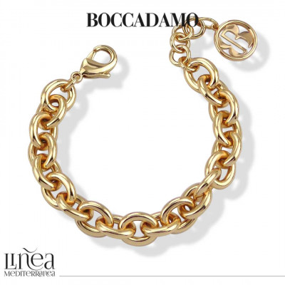 Yellow gold-plated small Forced chain bracelet