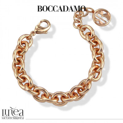 Rose gold plated small chain bracelet